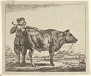Young Herdsman with a Bull, from Different Animals