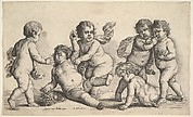 Four Children and a Satyr