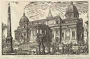 View of the rear entrance of the Basilica of S. Maria Maggiore, from Veduta di Roma (Roman Views)