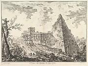 The Pyramid of Caius Cestius, with the Porta S. Paolo and adjoining road (Veduta del Sepolcro di Cajo Cestio)