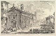 The so-called Temple of Fortuna Virilis (now Church of  S. Maria Egizziaca) (Veduta del Tempio della Fortuna Virile)