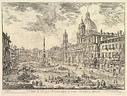Piazza Navona with S. Agnese on the Right