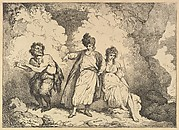 Scene from the Tempest (Caliban, Prospero and Miranda, from Imitations of Modern Drawings)