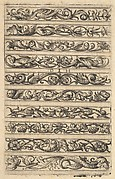 Ornamental fillet with ten different ornamental friezes