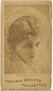 Card 436, Mary Anderson, from the Actors and Actresses series (N45, Type 1) for Virginia Brights Cigarettes