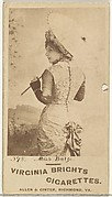 Card 398, Miss Balse, from the Actors and Actresses series (N45, Type 1) for Virginia Brights Cigarettes