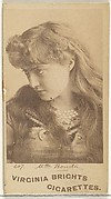 Card 607, Mlle. Bonita, from the Actors and Actresses series (N45, Type 1) for Virginia Brights Cigarettes