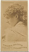 Card 472, Agnes Booth, from the Actors and Actresses series (N45, Type 1) for Virginia Brights Cigarettes