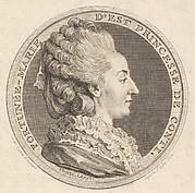 Print of a Portrait Medal of Fortunée-Marie d'Est, Princesse de Conti