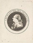 Print of a Portrait Medal of Louis XVI