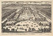 Veüe generale en Perspective du Château Bassecourt, Anticours, Jardins, &c. de Richelieu
