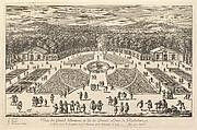 Veüe du Grand Parterre et de la Demie Lune de Richelieu