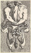 Design for a Term with Two Embracing Satyrs, from: Curieuses recherches de plusieurs beaus morceaus d'ornemens antiques et modernes (...)