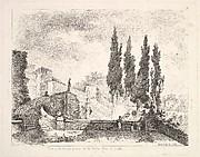 Vuë prise dan les jardins de la Ville d'Est à Tivoli