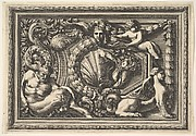 Design for a Panel with Two Variants containing a Satyr and a Sphynx, from: Panneaux d'ornement