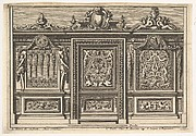 Design for a Choir Screen with Two Variants, from: Clôtures de chapelles