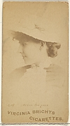 Card 615, Miss Evans, from the Actors and Actresses series (N45, Type 1) for Virginia Brights Cigarettes