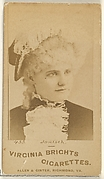 Card 435, Janisch, from the Actors and Actresses series (N45, Type 1) for Virginia Brights Cigarettes