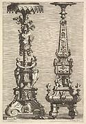 Two Torchères
