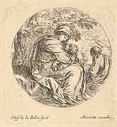 Rest on the Flight into Egypt, a round composition