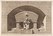 Tomb with Death Enthroned as a Sphinx