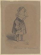 Caricature of Louis Marie de la Haye, Vicomte de Cormenin (alias Timon)
