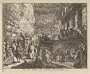 Vue du Salon du Louvre en l'année 1753