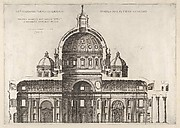 Speculum Romanae Magnificentiae: Longitudinal Section Showing the Interior of Saint Peter's Basilica as Conceived by Michelangelo (Published in 1569).