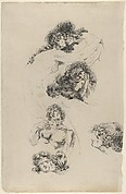 Studies of Lovers Embracing (recto) and A Suppliant Figure (verso)