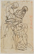 Ugolino and his Sons (recto); Anatomical Studies (verso)