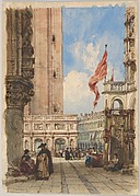 St. Mark's Square, Venice, with Loggetta