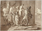 Venus preventing Aeneas from killing Helen
