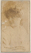 Card 706, from the Actors and Actresses series (N45, Type 5) for Virginia Brights Cigarettes