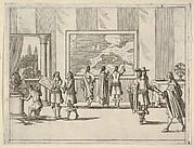 Francesco I d'Este Invites Foreign Scholars to Court, from L'Idea di un Principe ed Eroe Cristiano in Francesco I d'Este, di Modena e Reggio Duca VIII [...]