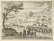 Francesco I d'Este Freely Crosses the Po and Takes Up his Sword Against Troops in the Vinyard of the Opposite Bank where the Spanish had Settled to Impede his Crossing, from L'Idea di un Principe ed Eroe Cristiano in Francesco I d'Este, di Modena e Reggio Duca VIII [...]
