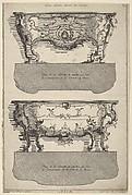 Designs for Two Commodes , from 'Livre de differents dessein de Comodes'