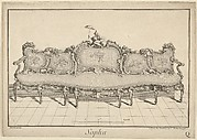 Design for a Sofa, from: Nouvelle Iconographie Historique III, series Q