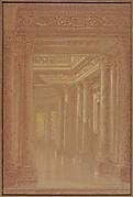 Design for a Hall Way with Corinthian Pillars