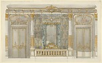 Design for Louise Vanderbilt's Bedroom at Hyde Park