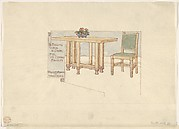 Folding Table and Chair for Mr Edward Bradley