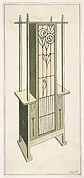 Stained-glass Flower Cupboard for Living Room or Hall