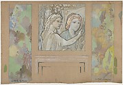 Design for an Overdoor Painting and Two Wall Panels