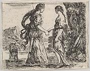 Jupiter and Calisto, from 'Game of Mythology' (Jeu de la Mythologie)