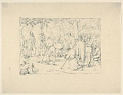 Prayer in Stonewall Jackson's Camp (from Confederate War Etchings)