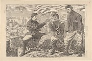 Thanksgiving Day in the Army – After Dinner: The Wish-Bone – Drawn by Winslow Homer (Harper's Weekly, Vol. VIII)