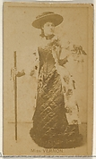 Miss Vernon, from the Actors and Actresses series (N45, Type 8) for Virginia Brights Cigarettes