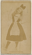 Vesta Victoria, from the Actors and Actresses series (N45, Type 8) for Virginia Brights Cigarettes