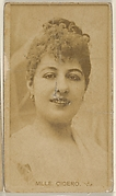 Mlle. Cicero, from the Actors and Actresses series (N45, Type 8) for Virginia Brights Cigarettes