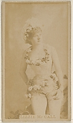 Lizzie McCall, from the Actors and Actresses series (N45, Type 8) for Virginia Brights Cigarettes