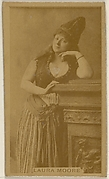 Laura Moore, from the Actors and Actresses series (N45, Type 8) for Virginia Brights Cigarettes